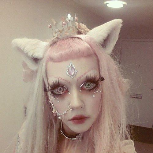 swedish girl weird makeup