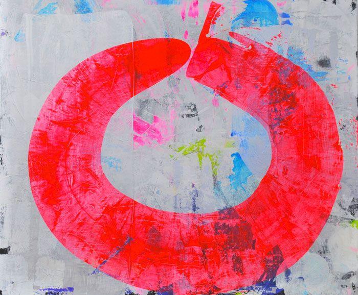 Martin Durazo, Omega, 2015, acrylic on canvas, 60 x 72 inches. COURTESY THE ARTIST AND BARBARA DAVIS GALLERY
