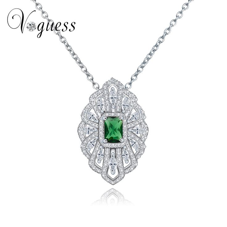 VOGUESS New Pendant Necklaces for Women Wedding Engagement Marquise Shape AAA Zircon Crystal Pendant with Jewellry Box #Affiliate