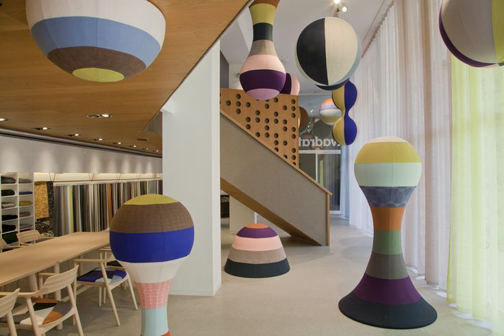 The installation FOREST COMES HOME. by Akira Minagawa in Kvadrat showroom in Milan