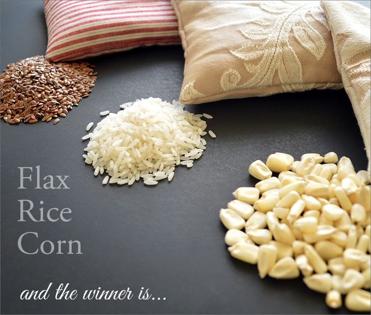 Organic Fillers For Warming Pads: We Compare Rice, Corn and Flaxseed | Sew4Home