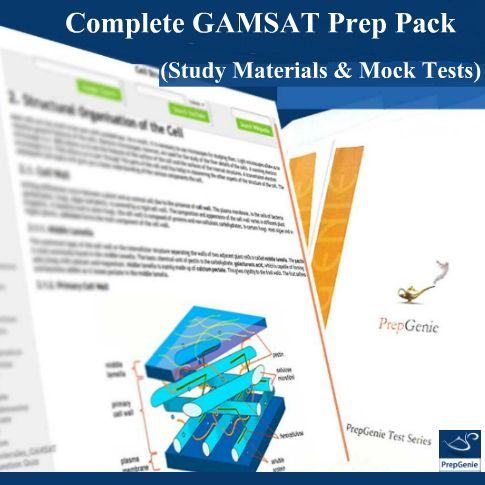 Complete GAMSAT Prep Pack (Mock Tests and Study Material) now only for A$269.55! What's more, those who buy within 10th August 2016, 11:59 pm will receive extended access till March 2018.
