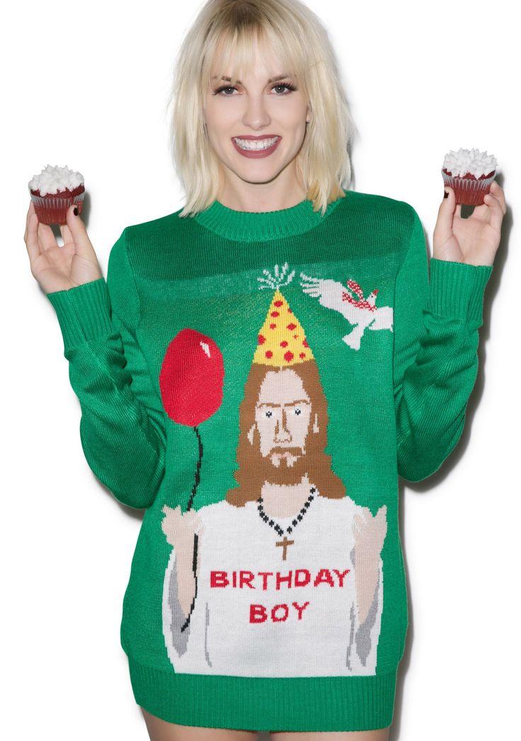 Happy Birthday Jesus Sweater | Dolls Kill