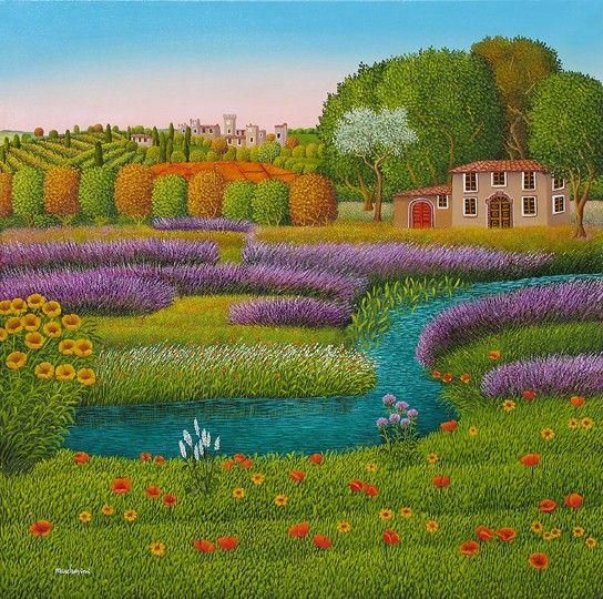Primavera in Toscana  by Cesare Marchesini of Italy