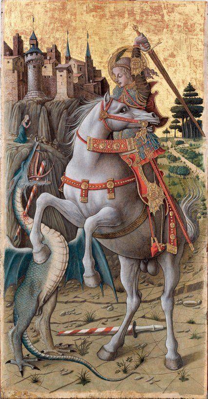 """Carlo Crivelli """"San Giorgio e il drago"""" 1470"""