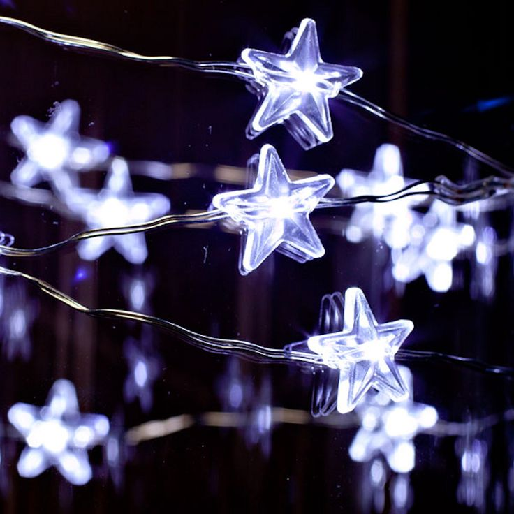 Light Silver Wire Cool White Battery Operated LED Micro - Diy copper stars for christmas decor