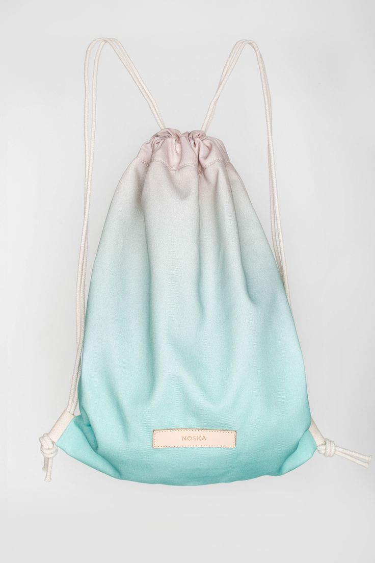 FrozenYogurt | NOSKA SHOP #FrozenYogurt #Rucksack #Frozen #Yogurt #RoseQuartz #LimpetShell #drawstring #bag