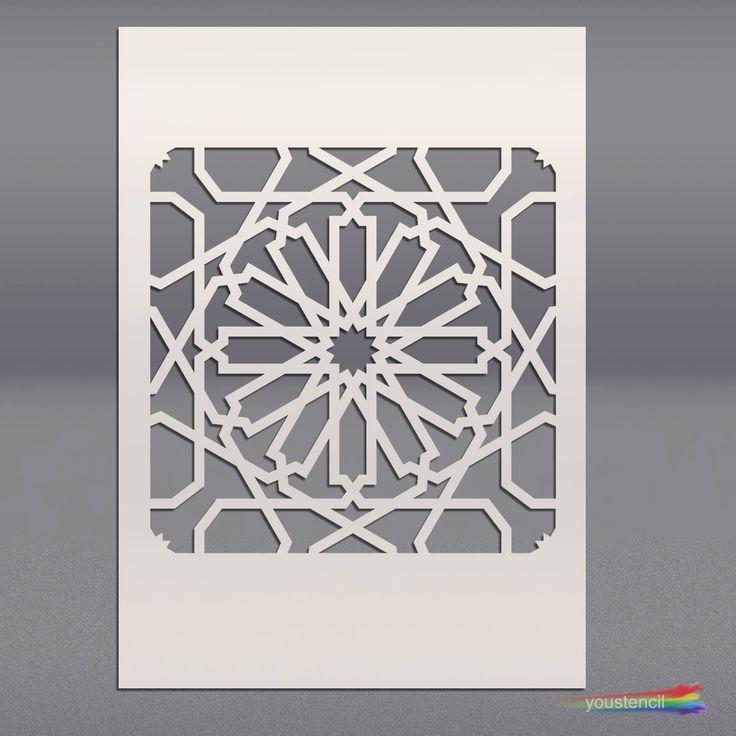 Marokkaanse Stencil voor muren & meubels ST27