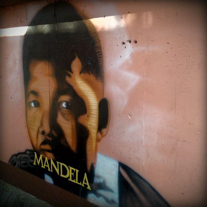 Mandela street art, Newtown, Johannesburg. #SouthAfrica #JHB #weknowbecausewego
