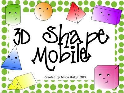 3D+Shape+Mobile+from+Teaching+Maths+with+Meaning+on+TeachersNotebook.com+-++(12+pages)++-+A+cute+collection+of+3D+Shapes+with+shape+name,+number+of+sides+and+number+of+vertices+included.+Use+as+a+poster+set+or+display+as+a+mobile.