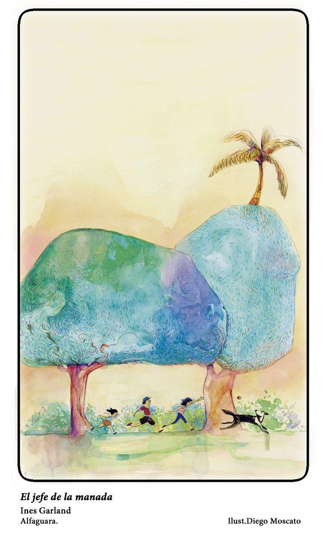 "Ilustracion de la novela "" El jefe de la manada"""