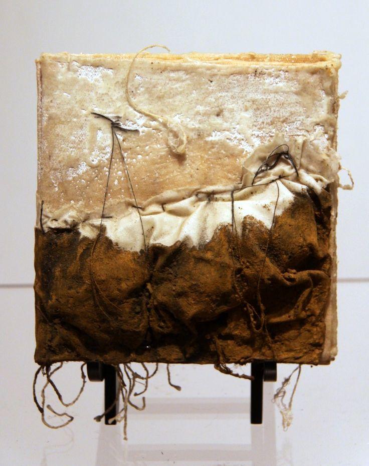 """Hills & Roots, Landscape Book""  by Kimberly Kersey-Asbury  description: sculptural artist book, mixed media."