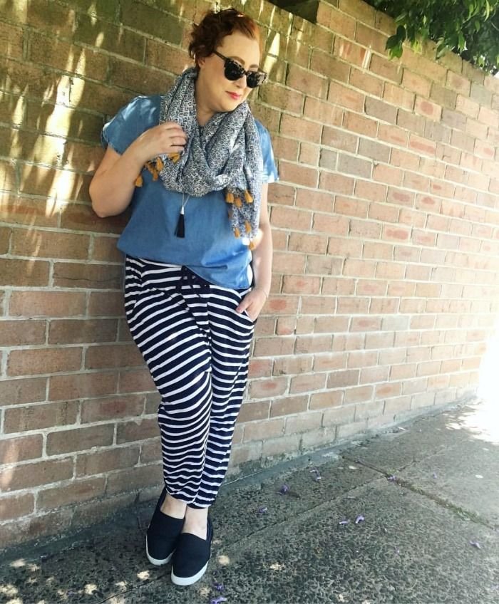 wearing striped pants | Style it Project November http://www.kimbalikes.com/striped-pants-style-project/