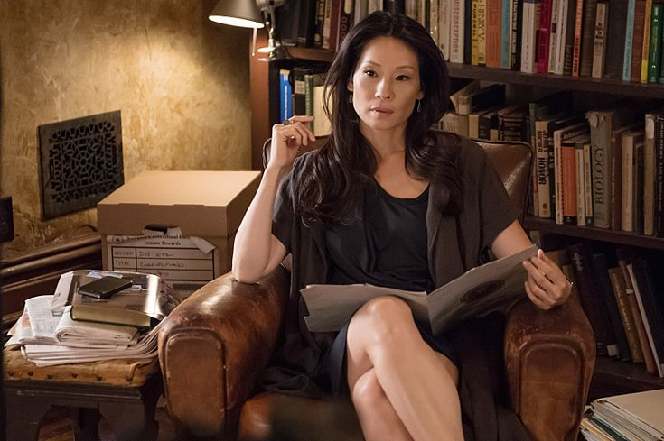 """Lucy Liu IN """"The Five Orange Pips"""" Elementary"""