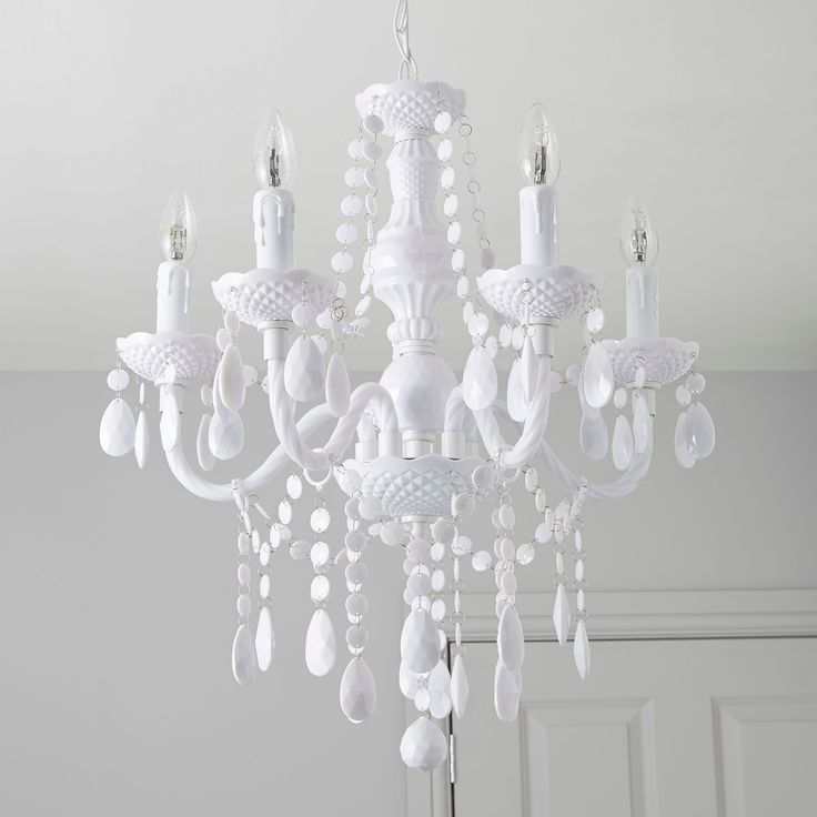 Wickham white 5 lamp pendant ceiling light departments diy at bq