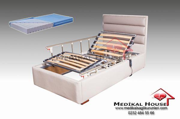 sera ev tipi elektrikli hastane yatakları