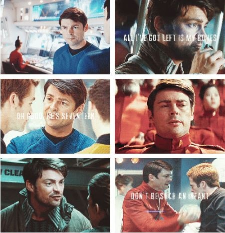 Saw Star Trek Into Darkness and so began my love for Karl Urban/Bones. <3 Great casting.