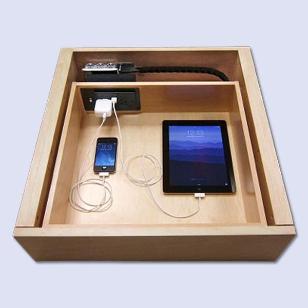 Declutter your gizmos with a drawer equipped with this code-compliant device, which has USB ports and is wired through the back of an existing drawer and cabinet. About $170; Docking Drawer. | thisoldhouse.com