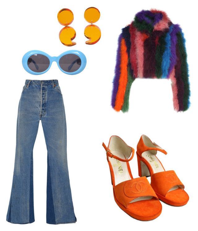 """""""Oh yeah baby"""" by marielizabeth12 ❤ liked on Polyvore featuring RE/DONE, Moschino, Chanel and Versace"""