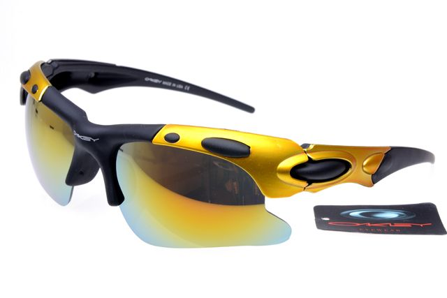 black and gold oakleys  Oakley Polarized Hijinx Sunglasses Yellow Black Frame Colorful ...