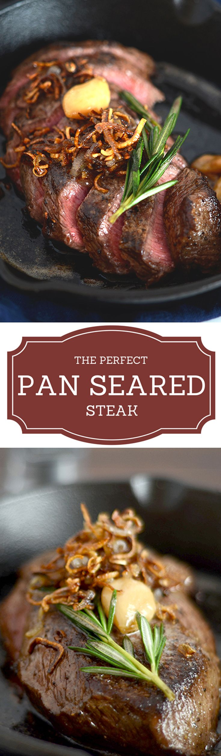 Who is in the mood for some red meat?  If someone were to ask that question, I'd always raise my hand.  This pan seared steak recipe is perfect for the carnivore in you too!
