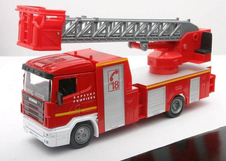 Camion Miniature 1/43 NEW RAY Sapeurs Pompiers SCANIA R124/400 ma ref v74