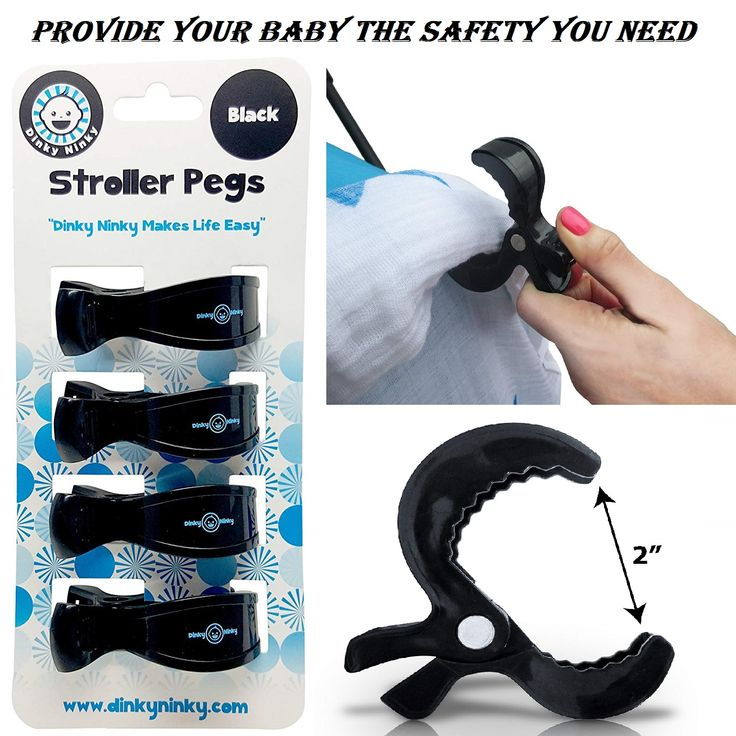 Stroller Pegs to Hook Muslin Sun Shade to Canopy - PROTECTS YOUR