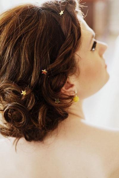 pretty hair with stars