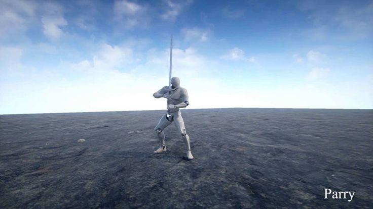 Two Handed Sword Animset  -  UE4