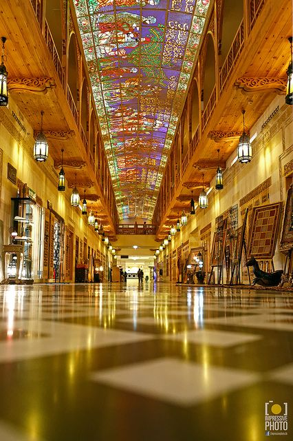 Dubai Mall. Unbelievable. Look at that stained glass. (LV)