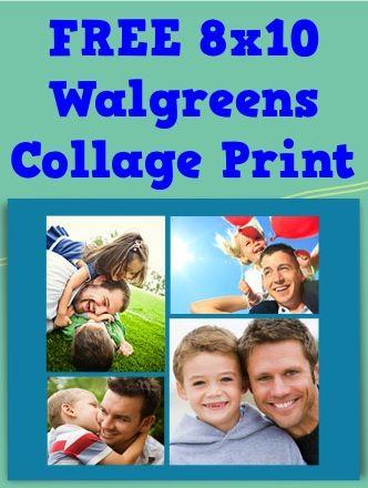 FREE Walgreens 8x10 Collage + FREE Pickup!!