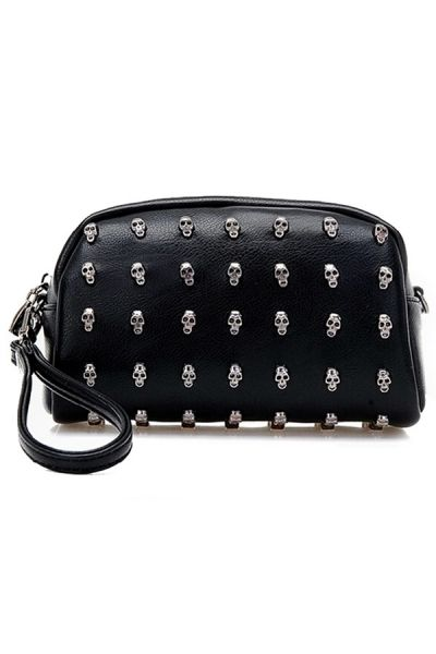 Punk Studded Skull Clutches