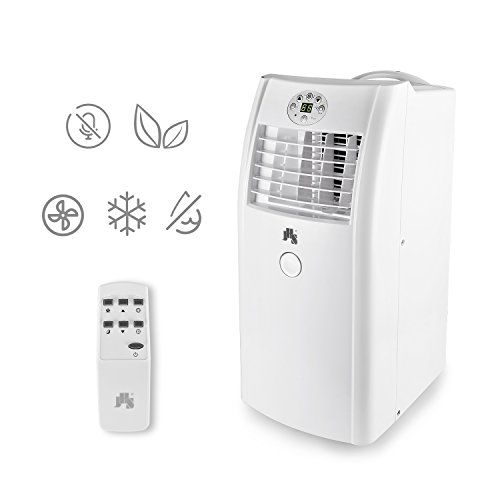 JHS A001-10KR/C 10000 BTU Portable Air Conditioner With Remote Control, White