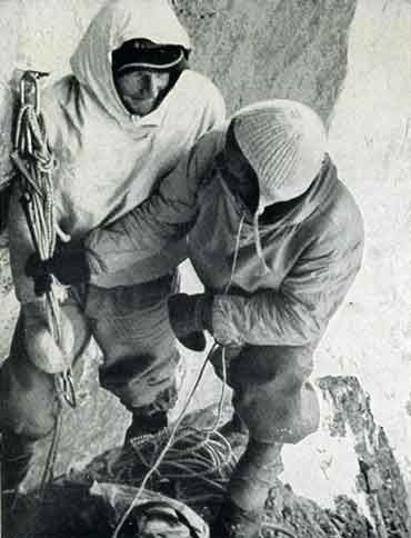 The White Spider - Heinrich Harrer and Fritz Kasparek Bivouac On The First Ascent Of The Eiger