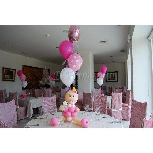 Decoraciones de mesas para bautizo de ni a imagui decoracion con globos pinterest mesas - Como decorar un salon para bautizo ...