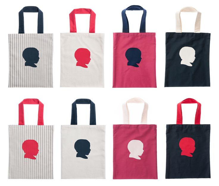 Our customized, handmade, organic cotton children's tote bags.