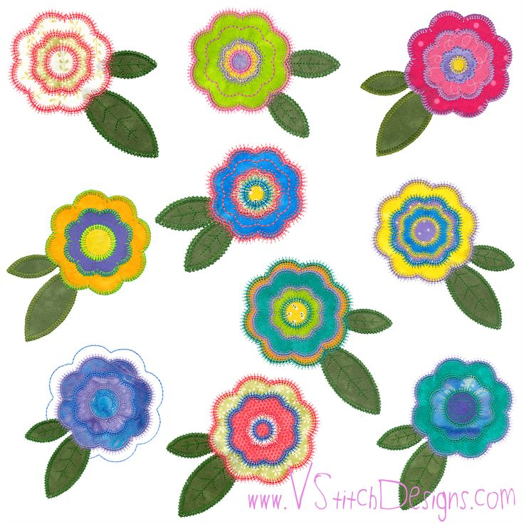 Machine Embroidery Design Rose Of Sharon