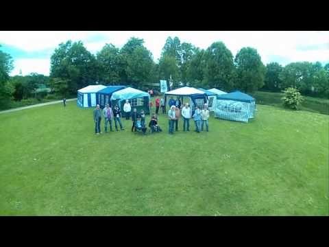 Quadrocopter Schiedwetterflug am Lohmühlenteich