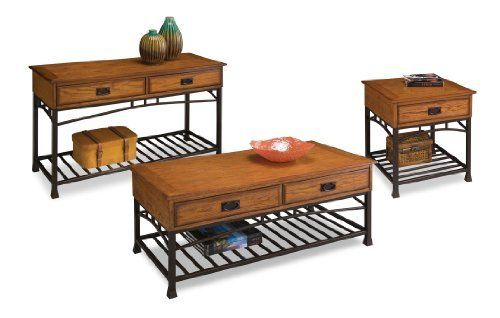 Home Styles 5050-20 - Modern Craftsman Coffee Table Set (Oak) by Home Styles. $372.00. The Home Styles 5050-20 - Modern Craftsman Coffee Table Set Oak is a reminiscent of the American Craftsman Era with understated style and simplicity the Home Styles 5050-20 - Modern Craftsman Coffee Table Set marries a traditional multi-step distressed Oak finish on poplar solids and oak veneers with new age brown metal accents The Home Styles 5050-20 - Modern Craftsman Coffee...