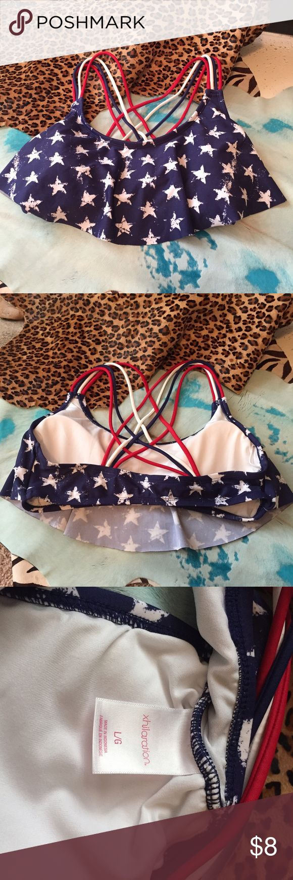 American flag bikini top target Never been worn in perfect condition.  Any offers or shares will help me so much to pay medical bills for my heart surgery. Comes from a pet free and smoke free home! Blessings! Xhilaration Swim Bikinis