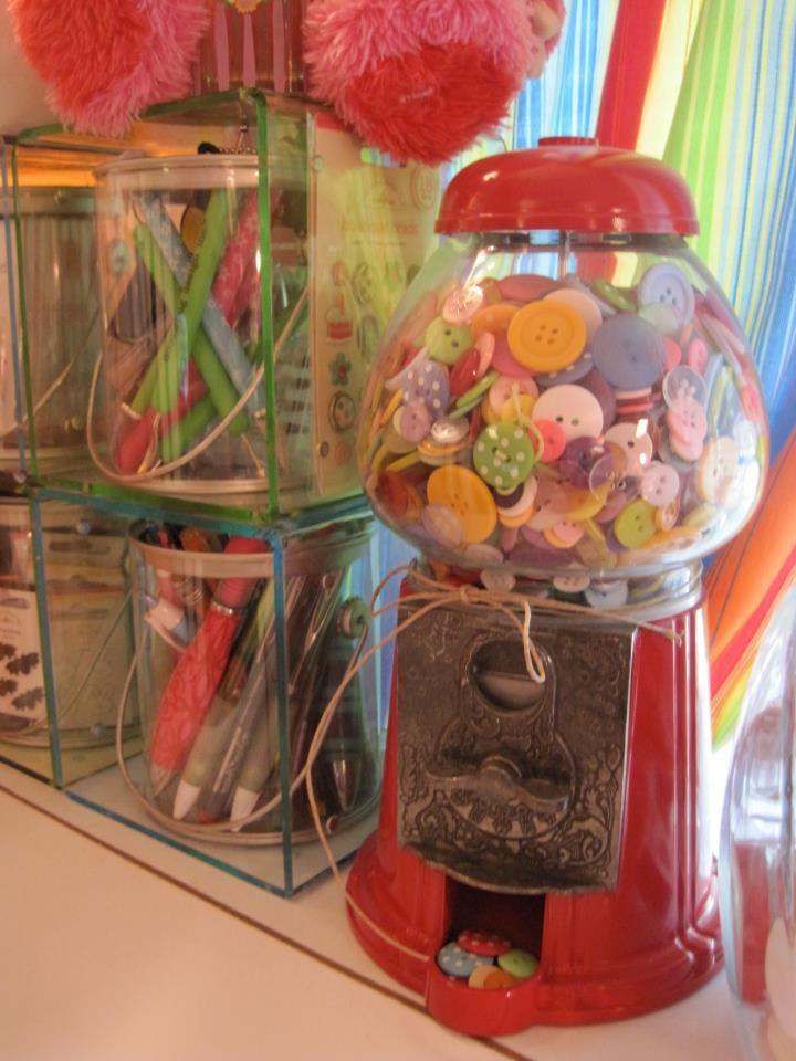 bubble gum machine craft storage