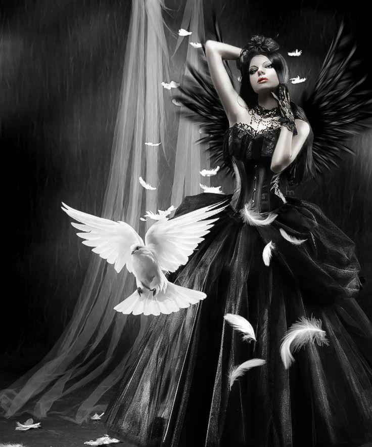 Картинки ангел готика красивые