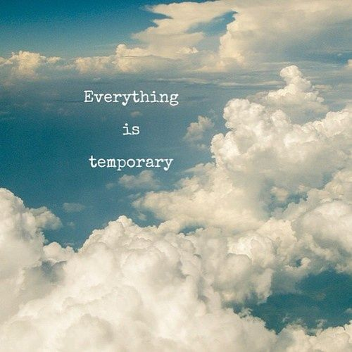 false.  everything is eternal.  But temporary in the tiny points of view we have.