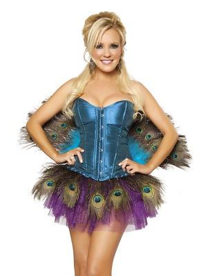 Bridget Marquardt Sexy Peacock Corset Outfit Adult Animal Halloween Costume