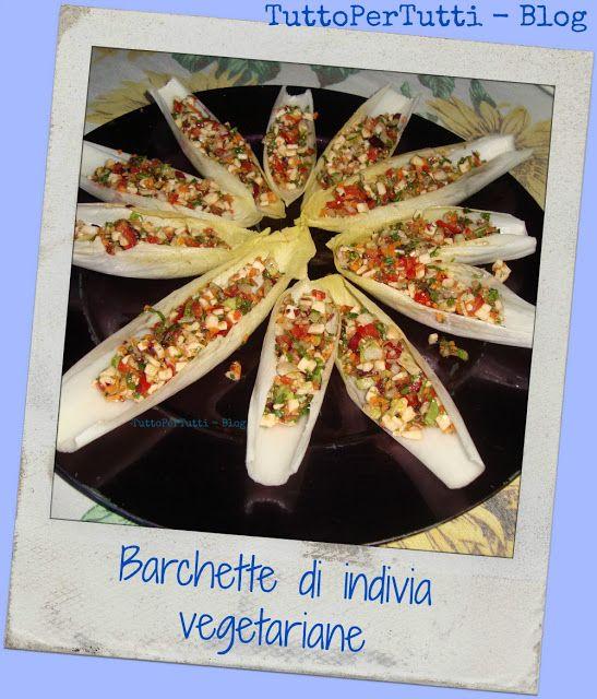 TuttoPerTutti: BARCHETTE DI INDIVIA VEGETARIANE by Fabio Antipasto, contorno o durante un brunch, le barchette di indivia coloratissime e sanissime! http://tucc-per-tucc.blogspot.it/2015/11/barchette-di-indivia-vegetariane-by.html