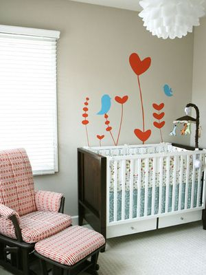 Simple, pretty girl's nursery