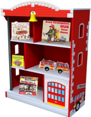 Firetruck Bookshelf Books Display Ideas In A Baby Fireman Nursery Theme Room Cribs Furniture Pinterest And Boy Rooms