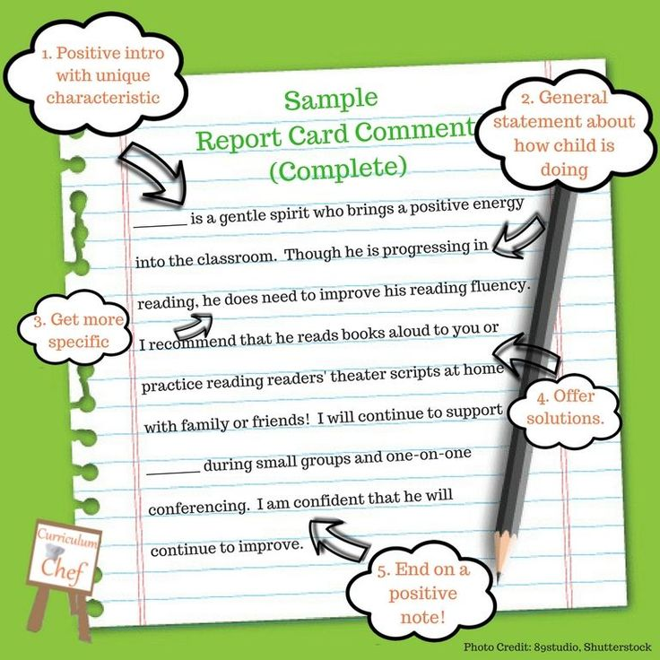 105 Report Card Comments for Literacy You'll Find Helpful ...