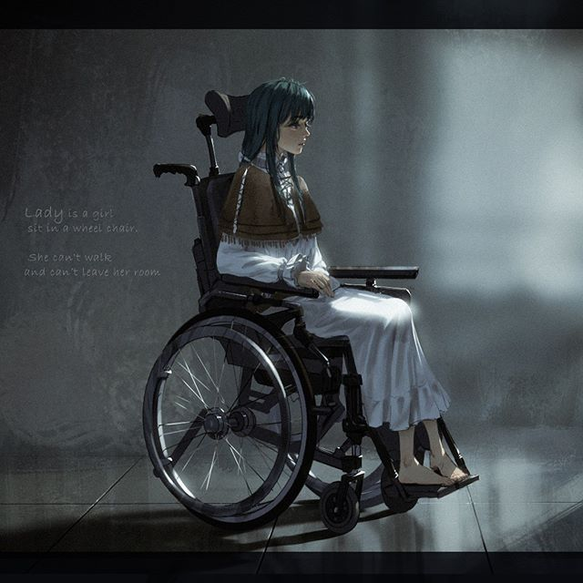 Concept For Lady Lady Is A Girl Sitting In A Wheelchair She Cant