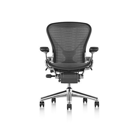 The Aeron office chair, designed by Don Chadwick and Bill Stumpf for Herman Miller in 1994, is a classic addition to modern office design.